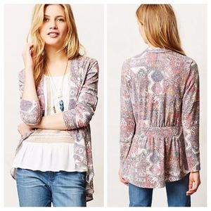 Anthropologie Weston Zaha Ruffled Open Cardigan M
